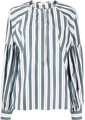 Odeeh Striped Oversized Blouse