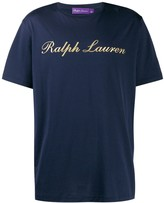 Ralph Lauren Purple Label gold logo printed T-shirt