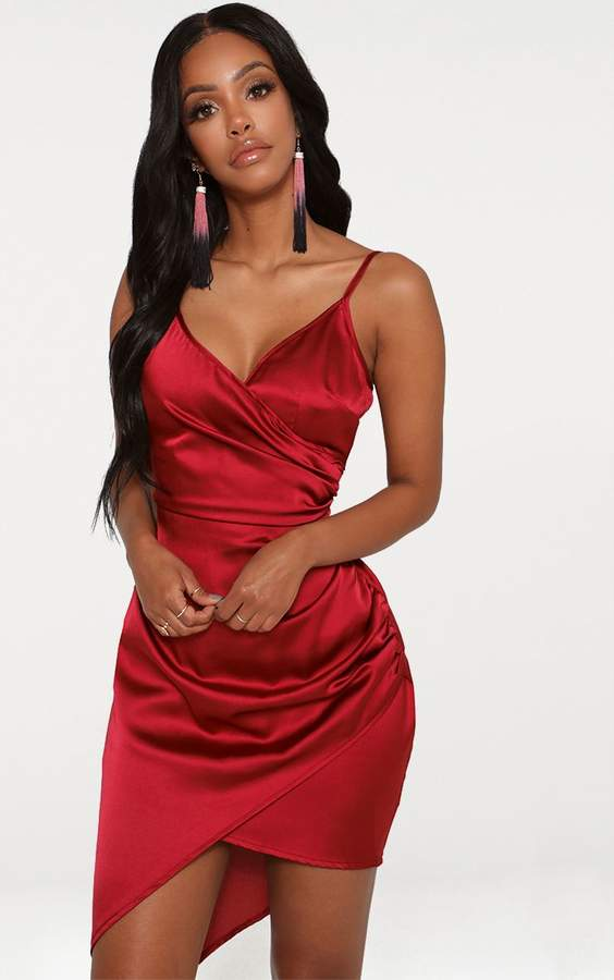 3c1560f009b PrettyLittleThing Red Satin Dresses - ShopStyle UK