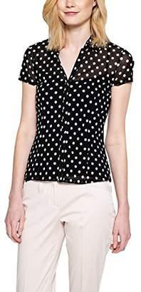 Comma Women's 85.899.32.0113 T-Shirt, Grau (Grey/Black dots 99M2)