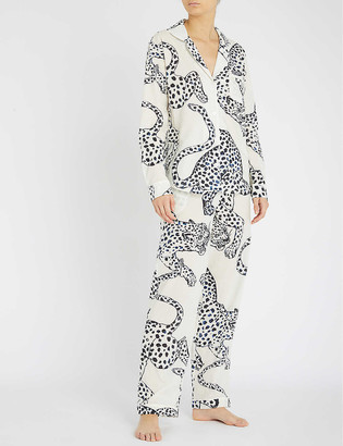 Desmond & Dempsey Printed cotton pyjama set