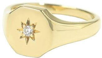 BONDEYE JEWELRY 14kt yellow gold Josie diamond signet ring