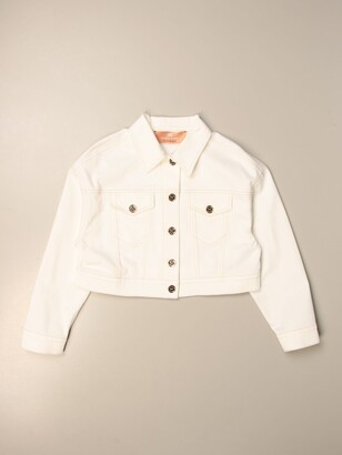 Elisabetta Franchi Cropped Jacket With Back Logo