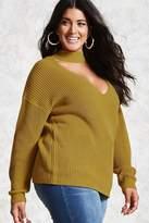 Forever 21 FOREVER 21+ Plus Size Choker Neck Sweater