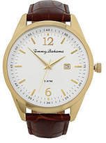 Tommy Bahama Siesta Key Leather Strap Watch, Brown