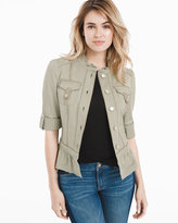 White House Black Market Peplum Cargo Field Jacket