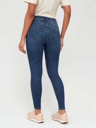 Very Shaping Knee Rip Skinny Jean - Dark Wash