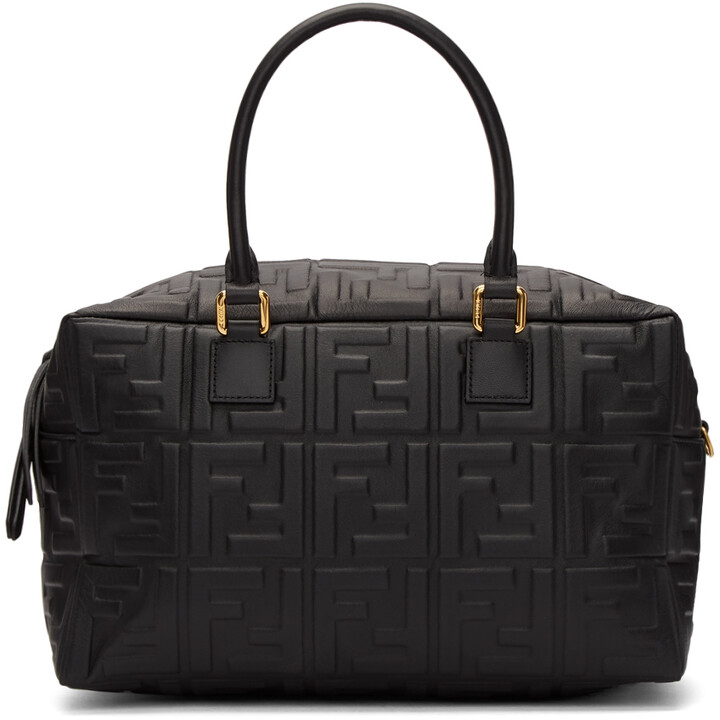 Fendi Black Small 'Forever Fendi' Boston Bag