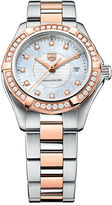 Tag Heuer Ladies Two-Tone Aquaracer Watch with Diamond-Encrusted Bezel WAP1452BD083