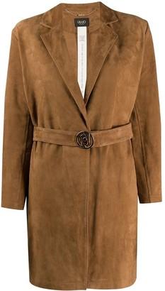 Liu Jo Leather Open Front Jacket