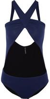 I.D. Sarrieri Giselle Cutout Halterneck Swimsuit - Navy