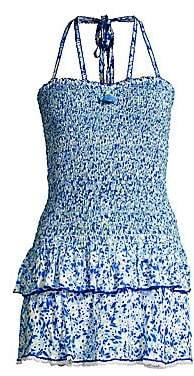 Poupette St Barth Women's Yana Smocked Bandeau Mini Dress