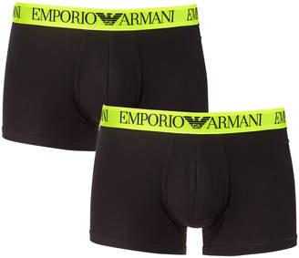 Emporio Armani Men's 2-Pack Trunk Boxer Briefs