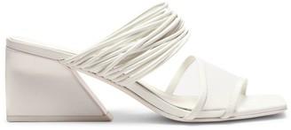 Mercedes Castillo Evalyn Square-Toe Leather & Mesh Mules