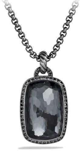 David Yurman Albion Pendant with Hematine and Black Diamonds