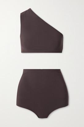 Bottega Veneta One-shoulder Bikini - Chocolate