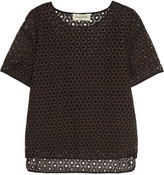 By Malene Birger Onestian broderie anglaise top