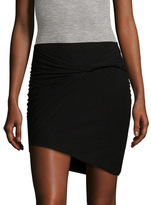 James Perse Asymmetrical Twist Mini Skirt