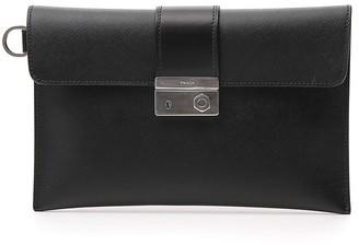 Prada Fold-Over Clutch Bag