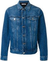 Givenchy logo print denim jacket - men - Cotton/Polyester - S