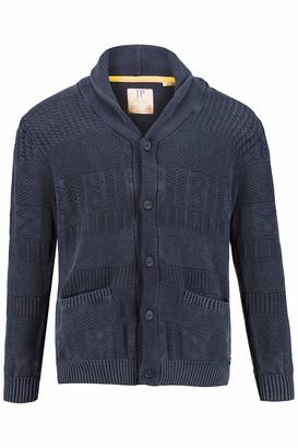 JP 1880 Men's Big & Tall Sweater Blue Denim XXXX-Large 723417 92-4XL