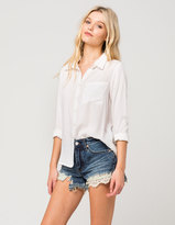 Free People Daisy Chain Lace Womens Denim Shorts
