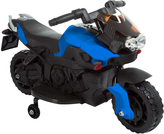 Blue Training Wheels Motorcycle Ride-On