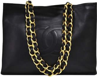 Chanel Black Lambskin Leather Jumbo XL Shopping Tote