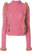 Philosophy di Lorenzo Serafini knit ruffled top