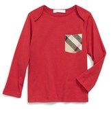 Burberry Infant Boy's 'Callum' Check Print Chest Pocket T-Shirt