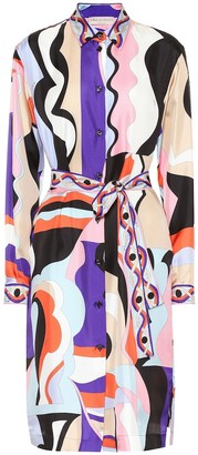 Emilio Pucci Printed silk-twill shirt dress