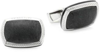 Tateossian Signature Pillow Onyx & Sterling Silver Cushion Cufflinks