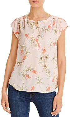 Daniel Rainn Short-Sleeve Floral Blouse