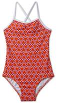 Stella Cove Toddler Girl's Heart Print One-Piece Swimsuit