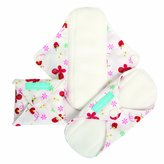 Charlie Banana Reusable Feminine Pads Super Butterfly, Butterfly