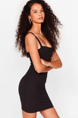Nasty Gal Womens Nothing to Seam Here Mini Bodycon Dress - Black - 4, Black