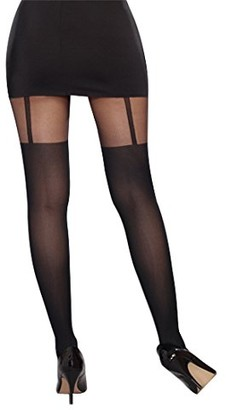 Dreamgirl Women's Sheer Pantyhose with Garters