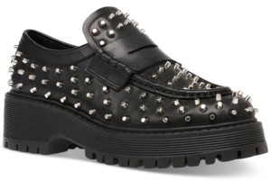 Steve Madden Women's Malvern Studded Lug Sole Loafers