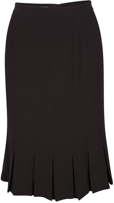 Giorgio Armani Brown Silk Pleated Hem Skirt S