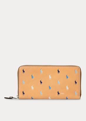 Ralph Lauren Pony Leather Zip Wallet