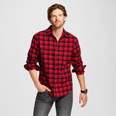 Merona Men's Print Crepe Flannel Button Down Shirt Red