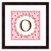 "Bed Bath & Beyond Monogram Rose Initial ""O"" Wall Art"