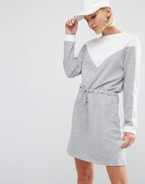 Daisy Street Color Block Sweat Dress