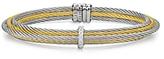 Alor Two Tone Multi Cable Cuff with Diamonds