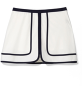 Tory Sport Contrast Tennis Skirt in Snow White, Small
