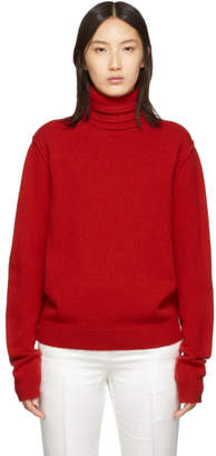 Raf Simons Red Knit Turtleneck