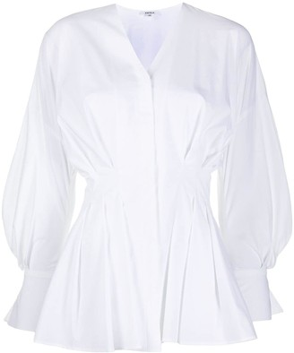 Enfold pleated V-neck shirt