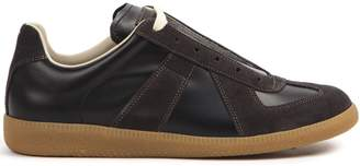 Maison Margiela Brown Leather And Suede Replica Sneakers