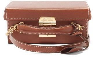Mark Cross Grace Small Saffiano-leather Box Bag - Brown