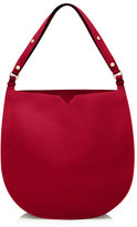Valextra Weekend Small Leather Hobo Bag, Red
